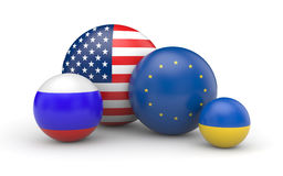 USA, Europe, Russia and Ukraine Stock Photos