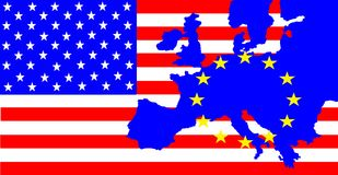 USA and Europe Royalty Free Stock Photo