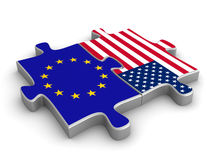 USA Europejczyka kooperacja Zdjęcie Stock