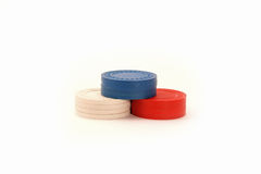 USA färbten Kasino-Pokerchips Stockbild