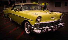 USA för nummer 1 guling, gammal bil Arkivbilder