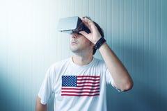 USA faceta rzeczywistości wirtualnej rekonesansowy środowisko Fotografia Stock