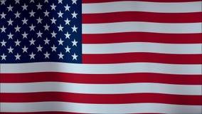 USA fahnenschwenkend im Wind - in hohem Grade ausführliche Gewebebeschaffenheit 4K lizenzfreie abbildung