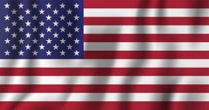 USA falowania flaga wektoru realistyczna ilustracja Krajowy kraj Zdjęcia Stock