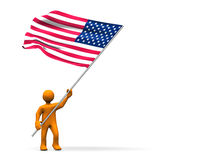 USA Fan Stock Photography