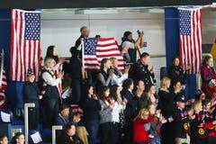 USA-fans Fotografering för Bildbyråer