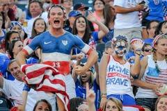USA-Fans Lizenzfreies Stockbild