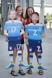 USA fans Stock Photo