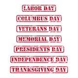 USA-Feiertagsstempel Stockbilder