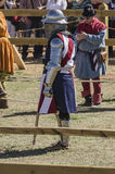USA female medieval knight Stock Photography