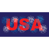 USA with fireworks. Clipart graphic Stock Image