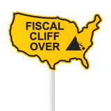 USA fiscal cliff over. Concept, 3d render Royalty Free Stock Images