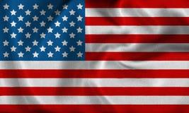 Usa flag. Waving flag USA - american flag Stock Images
