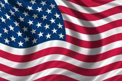 USA Flag. Flag of the USA waving in the wind Stock Images