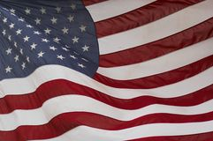 Usa flag. American flag waving in the wind Royalty Free Stock Photo