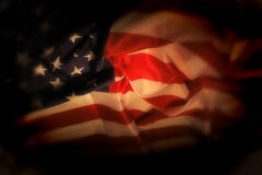 USA flag. As very nice national background in the night Royalty Free Stock Image