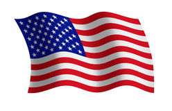 USA flag. Raster illustration of the USA flag Stock Photo