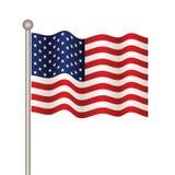 USA flag. Illustration for the web Stock Photography