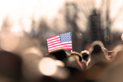 USA Flag. A USA flag at a rally Stock Images