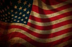 USA flag. Grunge USA flag on old canvas texture Stock Photography