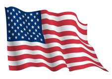 USA flag. USA,US waving flag vector realistic. This is file of EPS10 format stock illustration
