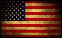 USA flag. Grunge USA flag background on bamboo wall Stock Images