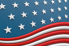 USA flag 3d Royalty Free Stock Photography
