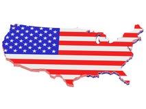 USA flag royalty free illustration
