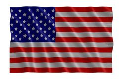 USA Flag. American flag blowing in the wind Royalty Free Stock Image