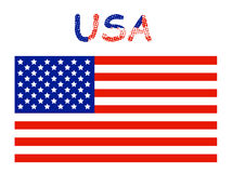 USA flag. Illustration of USA flag, color vector illustration
