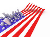 The USA flag Stock Photo