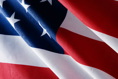 USA Flag. American USA stripped flag close up Stock Images