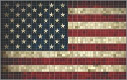 Mosaic USA flag Royalty Free Stock Photo