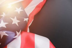 USA flag. American flag. American flag blowing wind. Close-up. Studio shot. USA flag. American flag. American flag blowing wind. Close-up. Studio shot on Royalty Free Stock Images