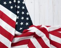 USA flag.  American flag on wood background. USA flag. American flag. American flag on wooden background Royalty Free Stock Photo
