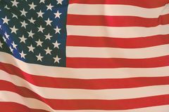 USA flag. American flag blowing wind. Close-up. Studio shot. USA flag. American flag blowing wind. Close-up Studio shot Stock Image