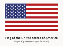 USA Flag or American flag in correct proportion and colors Royalty Free Stock Photography