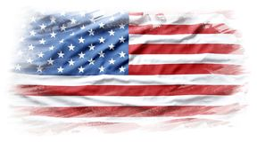 USA flag. American flag on plain background Stock Photos