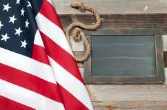 USA flag.  American flag on wood background. USA flag. American flag. American flag on wooden background Royalty Free Stock Photography