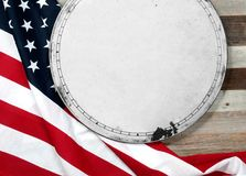 USA flag.  American flag on wood background. USA flag. American flag. American flag on wooden background Royalty Free Stock Images