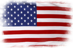 USA flag. American flag on plain background Stock Images