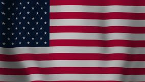 USA flag animation stock video