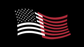 USA flag appearance on a transparent background with alpha channel. Included stock footage