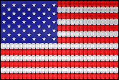 USA flag assembled of diamonds Royalty Free Stock Photos
