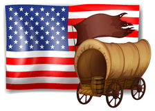 The USA flag at the back of a wagon Royalty Free Stock Images