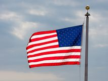 USA flag background. American symbol of fourth of July Independence Day, democracy and patriotism.  Stock Images