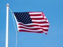 USA flag background. American symbol of fourth of July Independence Day, democracy and patriotism.  Royalty Free Stock Photos
