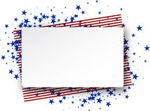 USA flag background. Background with American flag. Vector paper illustration Royalty Free Stock Photo
