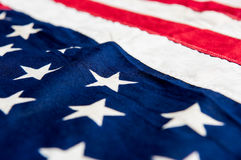 USA flag background. Close up detail image Royalty Free Stock Photography