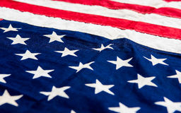 USA flag background. Close up detail image Stock Photo